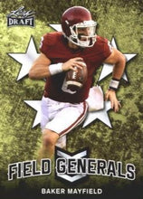 Load image into Gallery viewer, 2018 Leaf Draft Football Cards - Field Generals: #FG-01 Baker Mayfield