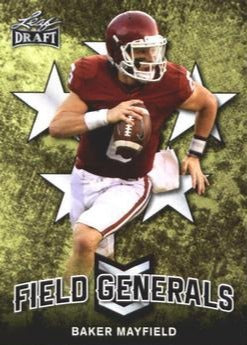 2018 Leaf Draft Football Cards - Field Generals: #FG-01 Baker Mayfield