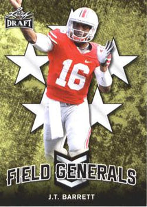2018 Leaf Draft Football Cards - Field Generals: #FG-02 J.T. Barrett