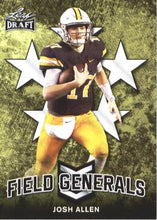 Load image into Gallery viewer, 2018 Leaf Draft Football Cards - Field Generals: #FG-03 Josh Allen