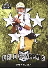 Load image into Gallery viewer, 2018 Leaf Draft Football Cards - Field Generals: #FG-04 Josh Rosen