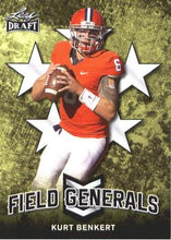 Load image into Gallery viewer, 2018 Leaf Draft Football Cards - Field Generals: #FG-05 Kurt Benkert
