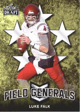 Load image into Gallery viewer, 2018 Leaf Draft Football Cards - Field Generals: #FG-06 Luke Falk
