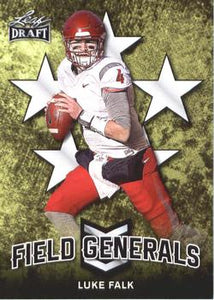 2018 Leaf Draft Football Cards - Field Generals: #FG-06 Luke Falk