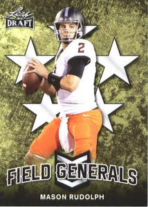 2018 Leaf Draft Football Cards - Field Generals: #FG-07 Mason Rudolph