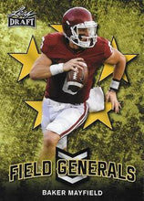 Load image into Gallery viewer, 2018 Leaf Draft Football Cards - Field Generals Gold: #FG-01 Baker Mayfield