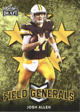 Load image into Gallery viewer, 2018 Leaf Draft Football Cards - Field Generals Gold: #FG-03 Josh Allen