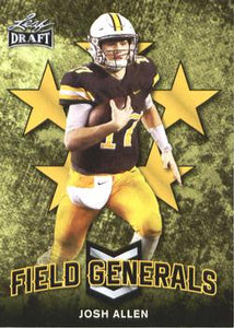 2018 Leaf Draft Football Cards - Field Generals Gold: #FG-03 Josh Allen