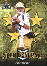 Load image into Gallery viewer, 2018 Leaf Draft Football Cards - Field Generals Gold: #FG-04 Josh Rosen