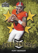Load image into Gallery viewer, 2018 Leaf Draft Football Cards - Field Generals Gold: #FG-05 Kurt Benkert