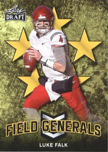 2018 Leaf Draft Football Cards - Field Generals Gold: #FG-06 Luke Falk