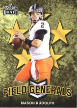 Load image into Gallery viewer, 2018 Leaf Draft Football Cards - Field Generals Gold: #FG-07 Mason Rudolph