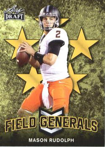 2018 Leaf Draft Football Cards - Field Generals Gold: #FG-07 Mason Rudolph