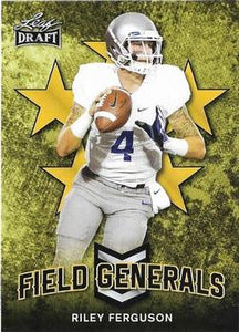 2018 Leaf Draft Football Cards - Field Generals Gold: #FG-08 Riley Ferguson