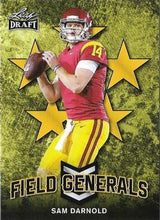 Load image into Gallery viewer, 2018 Leaf Draft Football Cards - Field Generals Gold: #FG-09 Sam Darnold