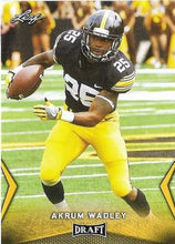 Load image into Gallery viewer, 2018 Leaf Draft Football Cards - Gold: #01 Akrum Wadley