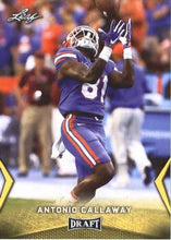 Load image into Gallery viewer, 2018 Leaf Draft Football Cards - Gold: #04 Antonio Callaway