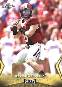 2018 Leaf Draft Football Cards - Gold: #07 Baker Mayfield