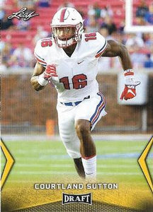 2018 Leaf Draft Football Cards - Gold: #12 Courtland Sutton