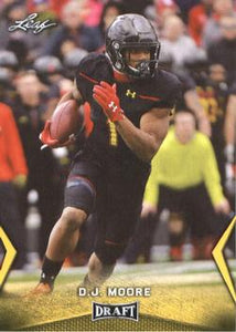 2018 Leaf Draft Football Cards - Gold: #14 D.J. Moore