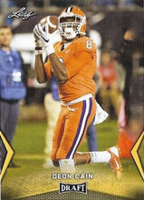 Load image into Gallery viewer, 2018 Leaf Draft Football Cards - Gold: #18 Deon Cain
