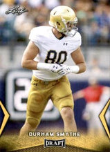 Load image into Gallery viewer, 2018 Leaf Draft Football Cards - Gold: #22 Durham Smythe