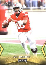 Load image into Gallery viewer, 2018 Leaf Draft Football Cards - Gold: #26 J.T. Barrett