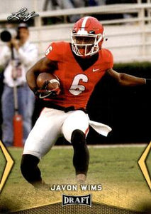 2018 Leaf Draft Football Cards - Gold: #28 Javon Wims