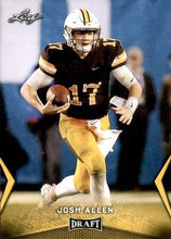 Load image into Gallery viewer, 2018 Leaf Draft Football Cards - Gold: #31 Josh Allen