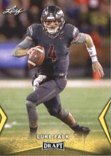 Load image into Gallery viewer, 2018 Leaf Draft Football Cards - Gold: #35 Luke Falk