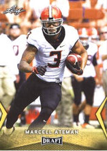 Load image into Gallery viewer, 2018 Leaf Draft Football Cards - Gold: #36 Marcell Ateman