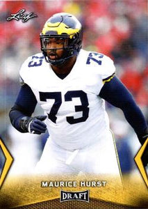 2018 Leaf Draft Football Cards - Gold: #40 Maurice Hurst
