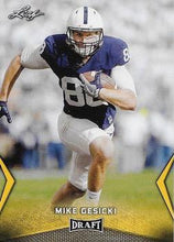 Load image into Gallery viewer, 2018 Leaf Draft Football Cards - Gold: #42 Mike Gesicki
