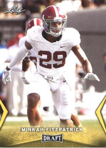 2018 Leaf Draft Football Cards - Gold: #43 Minkah Fitzpatrick