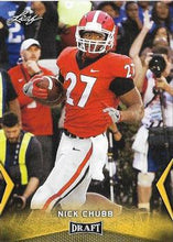 Load image into Gallery viewer, 2018 Leaf Draft Football Cards - Gold: #44 Nick Chubb