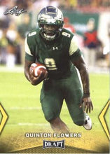 Load image into Gallery viewer, 2018 Leaf Draft Football Cards - Gold: #45 Quinton Flowers
