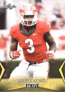 2018 Leaf Draft Football Cards - Gold: #52 Roquan Smith