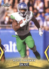 Load image into Gallery viewer, 2018 Leaf Draft Football Cards - Gold: #53 Royce Freeman