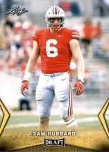 Load image into Gallery viewer, 2018 Leaf Draft Football Cards - Gold: #55 Sam Hubbard