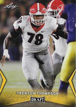 Load image into Gallery viewer, 2018 Leaf Draft Football Cards - Gold: #58 Trenton Thompson