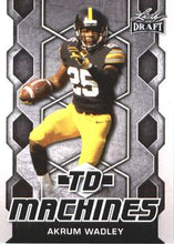 Load image into Gallery viewer, 2018 Leaf Draft Football Cards - TD Machines: #TD-01 Akrum Wadley
