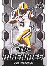 Load image into Gallery viewer, 2018 Leaf Draft Football Cards - TD Machines: #TD-06 Derrius Guice