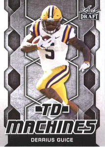 2018 Leaf Draft Football Cards - TD Machines: #TD-06 Derrius Guice