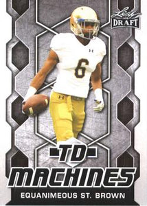 2018 Leaf Draft Football Cards - TD Machines: #TD-07 Equanimeous St. Brown