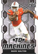 Load image into Gallery viewer, 2018 Leaf Draft Football Cards - TD Machines: #TD-13 Mark Walton