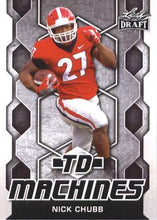 Load image into Gallery viewer, 2018 Leaf Draft Football Cards - TD Machines: #TD-14 Nick Chubb