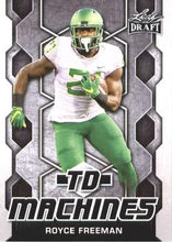 Load image into Gallery viewer, 2018 Leaf Draft Football Cards - TD Machines: #TD-17 Royce Freeman