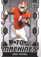 Load image into Gallery viewer, 2018 Leaf Draft Football Cards - TD Machines: #TD-19 Sony Michel