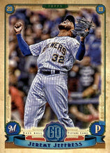 Load image into Gallery viewer, 2019 Topps Gypsy Queen Baseball Cards (101-200): #194 Jeremy Jeffress