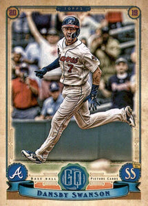 2019 Topps Gypsy Queen Baseball Cards (201-300): #208 Dansby Swanson